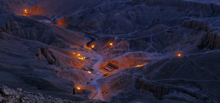 Valley of the kings at night